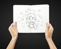 Emotiejongen stock afbeelding