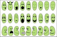 Emotiepictogrammen stock illustratie