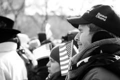 Emoties bij de Inauguratie royalty-vrije stock fotografie