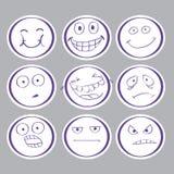 Emoties hand-drawn avatars Royalty-vrije Stock Foto