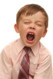 Emoties van de jongen Stock Foto's