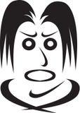 Emoties van de menselijke gezicht-woede Royalty-vrije Stock Afbeeldingen