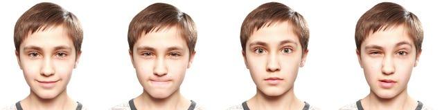 Emoties van tiener Stock Afbeelding