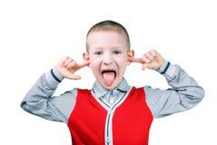 Emotiesjongen Stock Foto