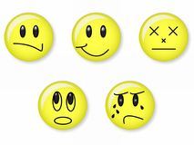 Emotion. Five face with different emotion Royalty Free Stock Images