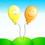 Emotion ballons Stock Photography