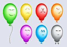 Emotion balloons Royalty Free Stock Photo