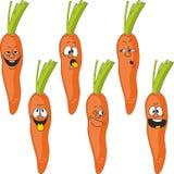 Emotion cartoon carrot vegetables set 017 Stock Image
