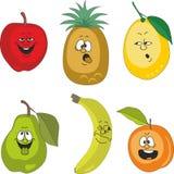 Emotion cartoon fruits set 010 Royalty Free Stock Photography