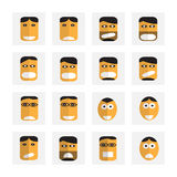 Emotion cartoon icons sets Royalty Free Stock Photo