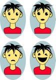 Emotion cartoon man Stock Photos