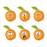 Emotion cartoon peach 007 Royalty Free Stock Photos