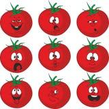 Emotion cartoon red tomato vegetables set 015 Royalty Free Stock Image