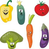 Emotion cartoon vegetables set 011 Royalty Free Stock Photography