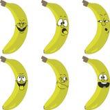 Emotion cartoon yellow banana set 015 Stock Photo
