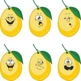 Emotion cartoon yellow lemon set 013. Vector.Emotion cartoon yellow lemon set 013 Stock Image
