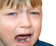 Emotion child sadness Stock Photo
