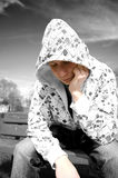 Emotion conceptual image. Depressed teenager Stock Photo