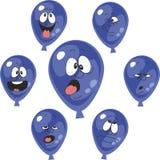 Emotion cyan balloon set 004 Royalty Free Stock Images