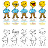 Emotion Expressions Icon Man Royalty Free Stock Photo