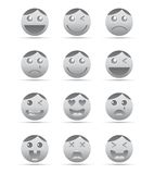 Emotion face character icon Stock Images