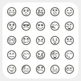 Emotion face icons set. EPS10, Don't use transparency Stock Photography
