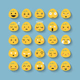 Emotion face vector icon set stock photography