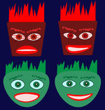 Emotion faces image. Multicolored vector image of colorful emotion faces Royalty Free Stock Photo