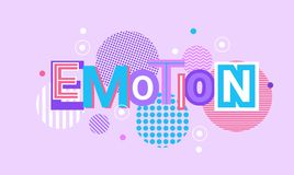 Emotion And Feelings Web Banner Abstract Creative Template Background. Vector Illustration Royalty Free Stock Photos
