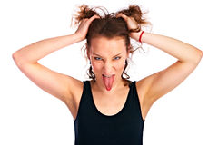 Emotion girl Royalty Free Stock Photography