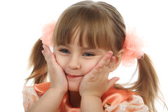 Emotion Girl Royalty Free Stock Images