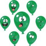 Emotion green balloon set 006 Royalty Free Stock Photography