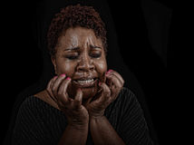 The Emotion Of Grief Royalty Free Stock Photography