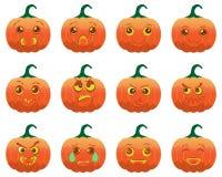 Emotion Halloween Cartoon Pumpkins Royalty Free Stock Image