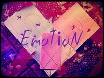 Emotion heart paper(no copy made from zero) Stock Image