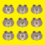 Emotion icon set - bear Stock Photo