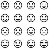 Emotion icon set. The emotion of icon set royalty free illustration