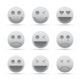 Emotion icon set Royalty Free Stock Photos