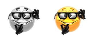 Emotion icons Stock Image