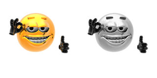 Emotion icons Royalty Free Stock Image