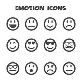 Emotion icons. Mono vector symbols stock illustration