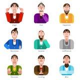 Emotion icons set Stock Image