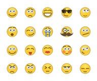 Emotion icons. Set of 20 emotion related icons Stock Illustration