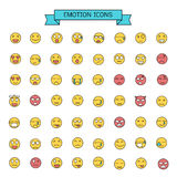Emotion icons. Vector graphic Emotion icons design Royalty Free Stock Photos