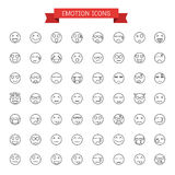 Emotion icons. Vector graphic design Emotion icons Royalty Free Stock Photo