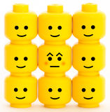 Emotion. Lego men heads with different emotions Royalty Free Stock Image