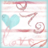 The emotion of Love background. Love themed background for scrapbooking, etc Stock Photos