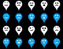 Emotion map marker icons Stock Image