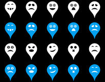 Emotion map marker icons Stock Images