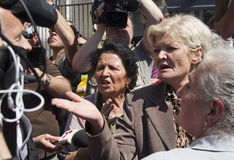 Emotion at the Mladic trial Royalty Free Stock Image